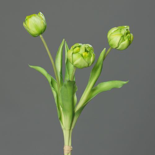 peony-tulip bundle x3,PUR, 39 cm, green, 12/48