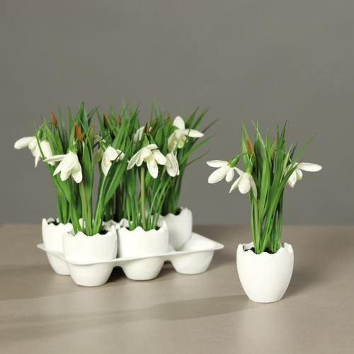 Snowdrop in spring egg, 6 pcs per Tray, price per