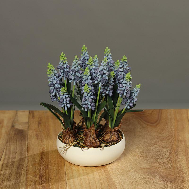Muscari landscape in ceramic bowl , 24 cm, 4/12