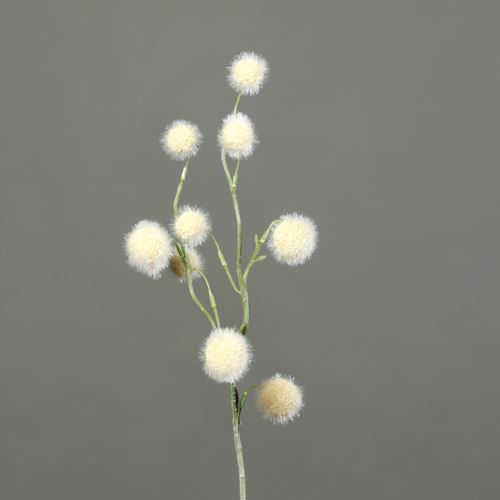 Kulki na gałązce Ball-grass 60 cm cream