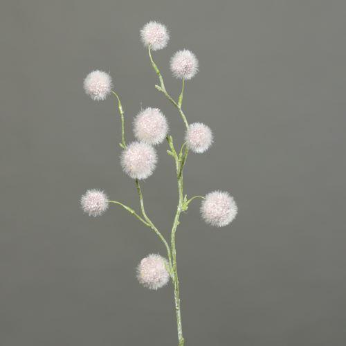 Kulki na gałązce Ball-grass 60 cm dusty-pink