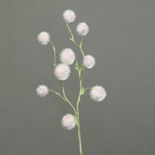 Kulki na gałązce Ball-grass 60 cm dusty-pink