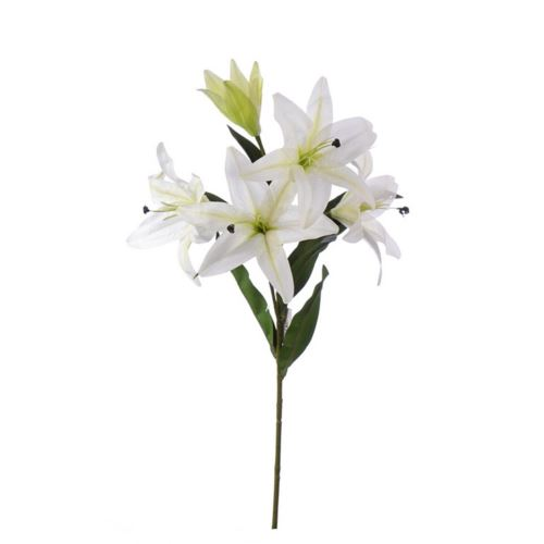 LILY SPRAY MST1627 WHITE 110cm