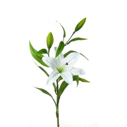 LILY SPRAY MST099 WHITE 90cm