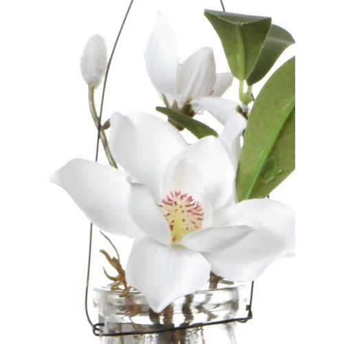 Magnolia in Hanging glas 18 cm 57108-33 cream