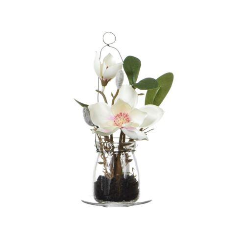 Magnolia w szkle  18 cm 57108-33 pink-cream