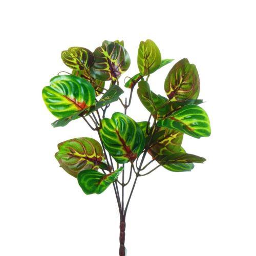 BUKIET LIŚCI X5 ZEBRA 30CM GREEN BURGUNDY RED (4)