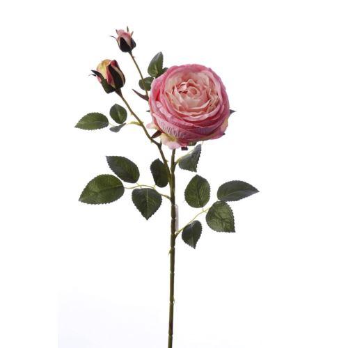 Gałązka róży 76cm pink