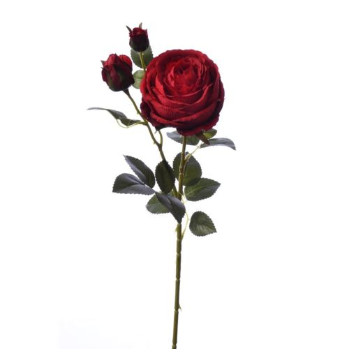 Gałązka róży 76cm red