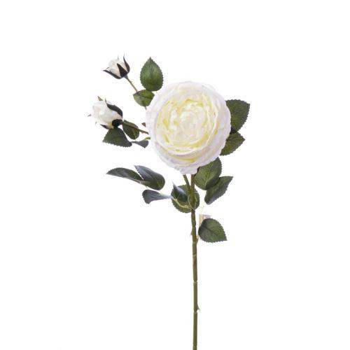 Gałązka róży 76cm cream