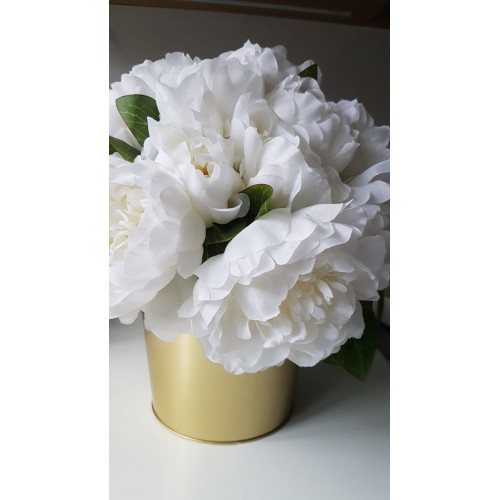 Bukiet peoni peony bush 38cm  sun533 cream