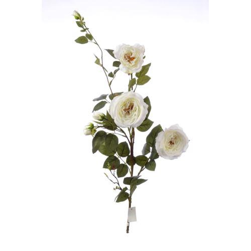 Róża gałązka 110cm SUN541 white cream