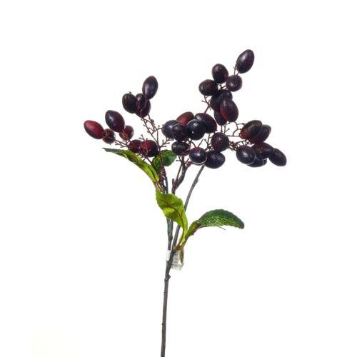 Gałązka oliwna 43cm bakłażan