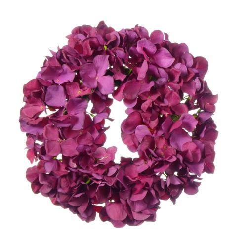 Wianek z hortensji 30cm lila ciemny