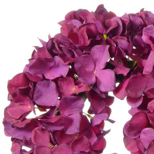 Wianek z hortensji 30cm lila