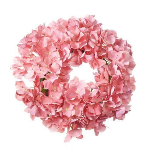 Wianek z hortensji 30cm pink
