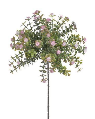 """Drobne kwiatuszki na gałązce pink """"gips"""""""