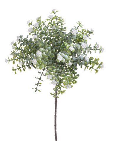 """Drobne kwiatuszki na gałązce white """"gips"""""""