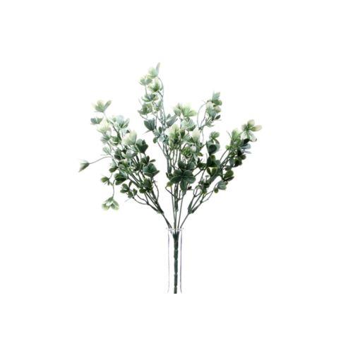 PĘCZEK Z KWIATKAMI 35CM WHITE GREEN