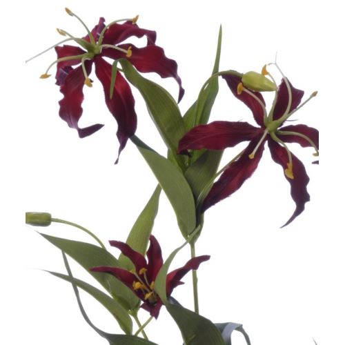 Gloriosa spray 80cm sun588 burgundy red