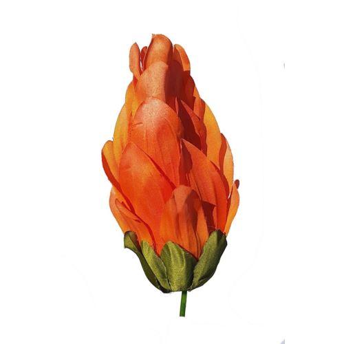 Kwiat karczoch wys. 16cm orange