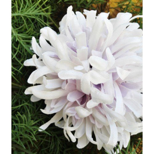 CHRYZANTEMA BALL ART100 12 WHITE/VIOLET