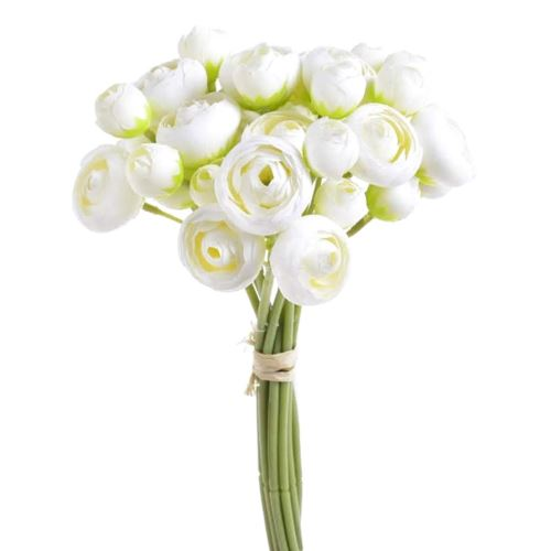 Bukiet jaskrow  36 kwiatów 30cm white