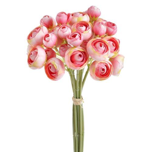 Bukiet jaskrów 36 kwiatów 30cm pink