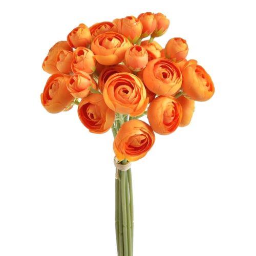 Bukiet jaskrów  36 kwiatów 30cm orange