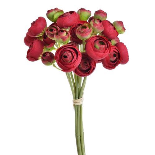 Bukiet jaskrów  36 kwiatów 30cm red