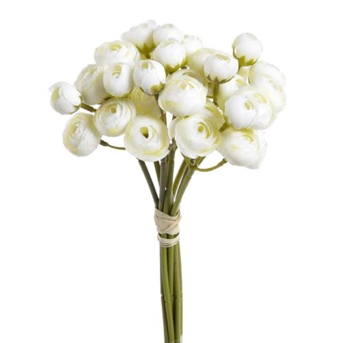 Bukiet drobnych jaskrów 36 kwiatów 30cm white