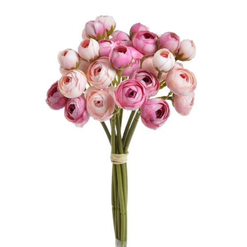 Bukiet drobnych jaskrow 9x4 29cm pink lt pink