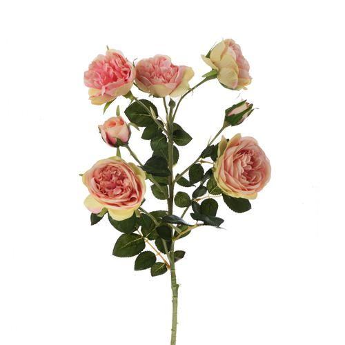 Gałązka róży 76 cm lt pink green