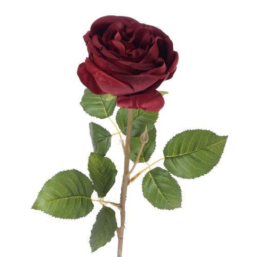 Róża poj. natural touch 75cm burgundy