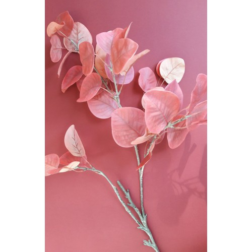 Eukaliptus gałąź 96cm coral pink