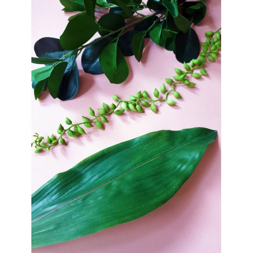 Aspidistra liść natural touch 73cm green