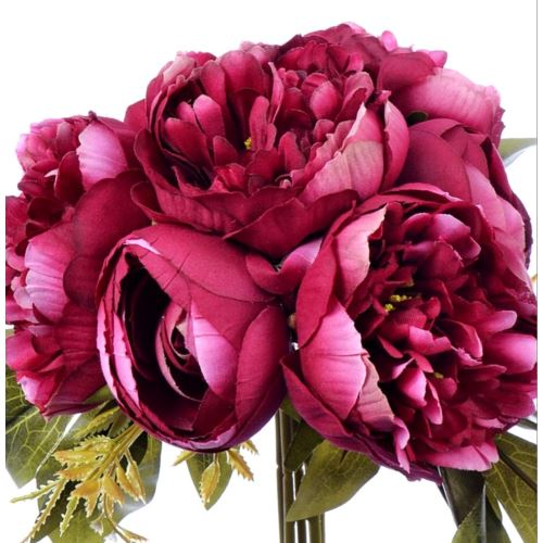 PEONIA BUKIET X 7 purple