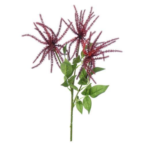 Kwiaty ozdobne bordowe 58cm