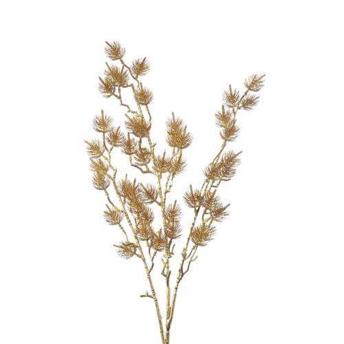 Galązka sosny ozdobnej złota 85cm