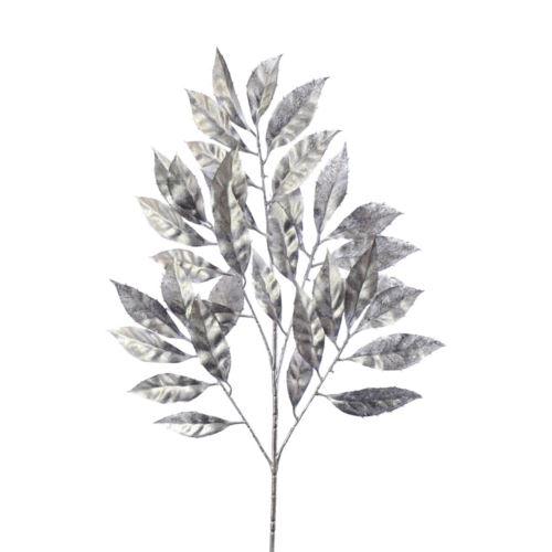 Liście ozdobne srebrne 53cm /23cm silver