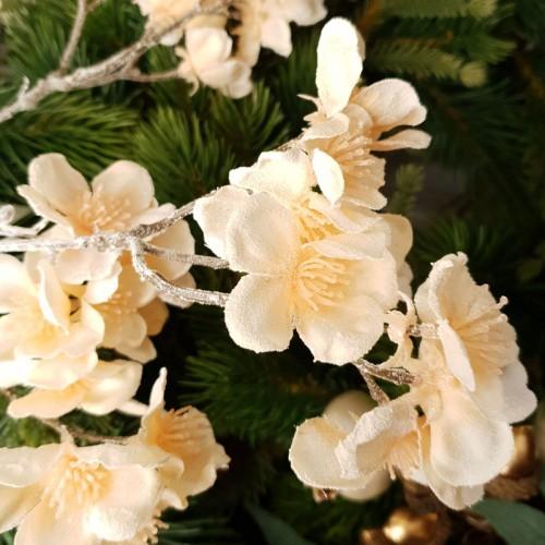 Gałązka wiśni szron 51 cm cream