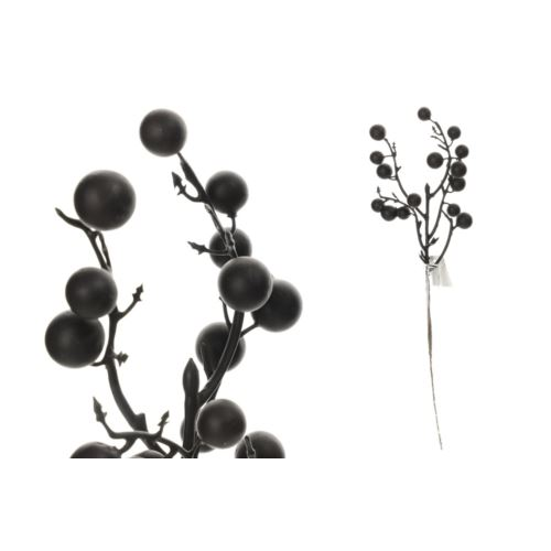 Gałązka z kulkami 30 cm black violet