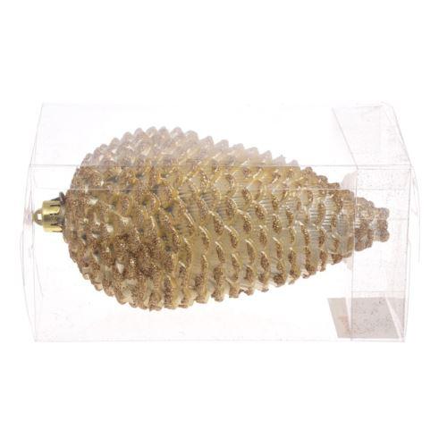 Bombka-szyszka 16cm gold