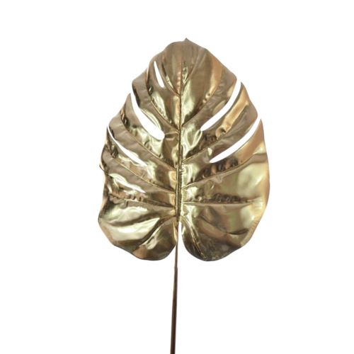 LIŚĆ MONSTERA METALIC DUŻY 72CM GOLD