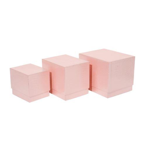 SET 3 SCATOLE PINK(M.G CM.18,5x15x15)