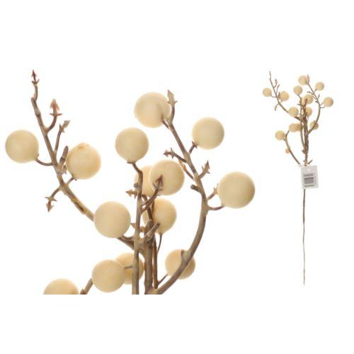 Gałązka z kulkami 30 cm white