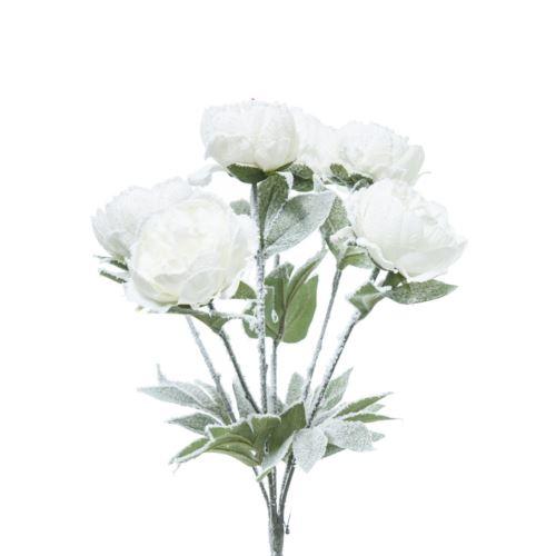 BUKIET PEONIA ŚNIEŻNA 45CM WHITE