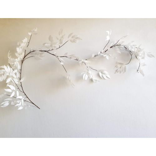 Girlanda  biały ruskus szron-brokat 180cm  white