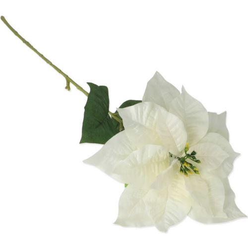 SINGLE POINSETTIA 80cm p./NH302 WHITE
