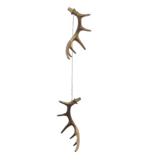 Rogi  Antler deer 16 cm  na sznurku kpl. 2szt gold